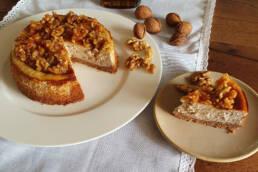 Walnuss Cheesecake mit Ahornsirup
