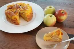 Apfelkuchen mit Eierlikörguss