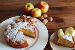 Apfel mit Walnuss- Karamell Kuchen