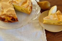 Birnenkuchen mit Baiserhaube