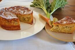 Rhabarberkuchen mit Ricotta Creme